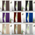 Thermal Blackout Curtains- Ring Top Eyelet Pencil Pleat.All Sizes FREE Tiebacks
