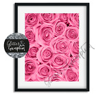 Beautiful Fashion Scandi Art Pink Roses Flowers Wall Art Office Bedroom Wall Art
