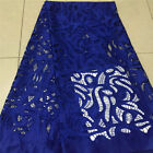 GLAMOROUS EMBROIDERED FLORAL BRIDAL DRESS MESH LACE FABRIC