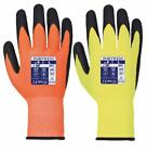 Portwest A625 Cut Level 5 Heat Resistant Hi Viz Visibility PU Work Wear Gloves