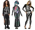 I-CURVES womens sexy skeleton spanish day of the dead halloween fancydress