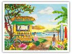 FruitStand Beach Paradise Hawaii - Robin Wethe Altman Watercolor Painting Print