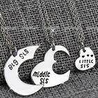 Silver Sisters Heart Necklaces Xmas Gifts for Her Women Mum BLACK FRIDAY DEAL XY