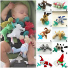 animal foods - Food Grade Silicone Pacifier with Plush Stuffed Animal Toy Infant Baby Toddler