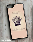 PRINCESS QUEEN PINK GIRLY  PHONE CASE  FITS IPHONE 4 5 6 7 SE PLUS gay theme.