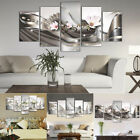 Art - 5 Panel Canvas Print Modern Picture Wall Art Decor Home Abstract Flower Framed