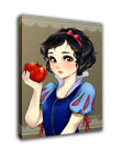 "Cartoon Art Oil Painting Print On Canvas Home Decor ""Snow White and Apple""Framed"