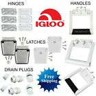 IGLOO COOLER PARTS HINGE LATCH DRAIN PLUG LID STRAP CAP HANDLE STAINLESS STEEL