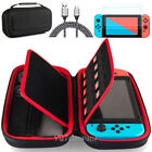 Accessories Case Bag+6ft/2M Charging Cable+2X Tempered Glass for Nintendo Switch