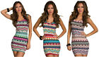I-CURVES sexy Aztec patterned ladies body-con dress size (8-10)