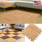 "9PCS 12*12"" EVAImitation Wood Foam Exercise Gym Floor Mat Soft Kids Play Mats US"
