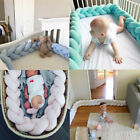New Baby Infant Plush Crib Bumper Bed Bedding Cot Braid Pillow Pad Protector