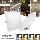 recessed light fixtures - 3W-18W Ultra-thin LED Recessed Ceiling Panel Down Light Bulb Office Lamp Fixture