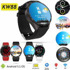 KW88 Android 5.1 Smart Watch Phone Quad Core Bluetooth 3G GPS WIFI For Samsung