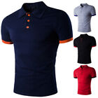 New Fashion Mens Stylish Casual T-Shirts Slim Fit Short Sleeve POLO Shirt Tops