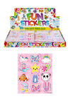 CHILDRENS CUTE STICKER SHEETS PARTY BAG FILLERS FAVOURS BOYS GIRLS STICKERS