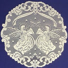Heritage Alpine Angels Lace Ivory/Cream Doilies, Place Mats and Table Runners