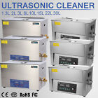 Stainless Digital Ultrasonic Cleaner Ultra Sonic Bath Cleaning Tank Timer Heater