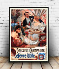 Biscuits Champagne : Vintage Advert , poster, Wall art, poster, reproduction.