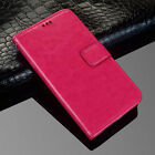 (Rose) Premium PU Leather Flip Case Wallet Stand Cover For Various mobile phones