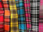 Tartan Check Fabric Poly viscose 150 cm Wide Fat Quarter Half Meter Full Meter