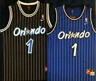 Penny Hardaway #1 Orlando Magics Mens Stitched Throwback Jersey Blue or Black