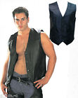 201 Men's Classic 4 snap Soft Lightweight Leather Motorcycle Vest