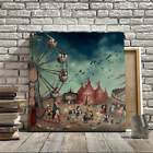 Unframed Wall Decor Art Oil Painting On Canvas Spray Printed Ferris Wheel Dark
