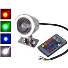 5W 10W 12V RGB LED Underwater Light Fountain With Remote Control Lamp Bulb