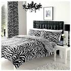 TRIBAL ZEBRA PRINTED QUIL DUVET PILLOW CASES COVER SET POLY COTTON ALL SIZES