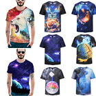 Mens 3D Funny Cartoon T-Shirts Creative Graphic Print Summer Tops O-neck Unisex