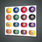 BILLIARD BALLS SNOOKER CANVAS PICTURE PRINT WALL ART HOME DECOR FREE DELIVERY