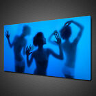 LADIES BLUE STEAM ROOM CANVAS PRINT PICTURE WALL ART HOME DECOR MODERN DESIGN