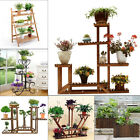 Pot Plant Planter Stand Garden Home Decor Flower Rack Metal Wooden Outdoor Indoo