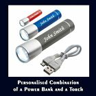 Personalised Combination Power Bank and a Torch