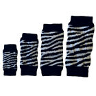 Dog Leg Warmers - Zebra Dog Leg Warmers - Pk 4 - RichPaw - S to XL