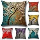 Cotton Linen Bolster Throw Pillow Case Sofa Car Cushion Cover Home Decor GIFT