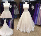 Lace Appliques Wedding Dresses Sweetheart Strapless A-Line Bridal Gowns