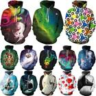 Fashion 3D Print Men Women's Long Sleeve Hoodies Pullover Jumper Sweatshirt Tops