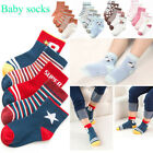 5Pairs Baby Kids Hosiery Unisex Warm Socks Toddlers Non-Slip Cotton Knee-socks