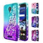 Alcatel Raven LTE / IdealXCITE Case Liquid Glitter Bling Cover +Screen Protector