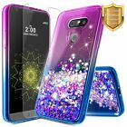For LG G5 Case | Liquid Glitter Bling Shockproof Cute Cover + Screen Protector