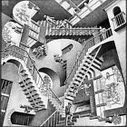 MC Escher 'Relativity' - Gallery Grade Textured Fine Art Paper -  50 cm x 50 cm