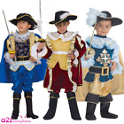 Musketeer Renaissance Noble Knight Historical Book Day Kids Fancy Dress Costume