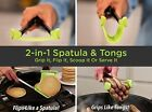 Clever Tongs 2 in 1 Kitchen Spatula And Tongs Non Stick Heat Resistance