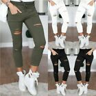Womens Stretchy Ladies Slim Fit Ripped Skinny Jeggings Pants Trousers Leggings