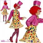 Clown Lady Costume Ladies Womens Fun Adult Fancy Dress Circus Outfit UK 8 - 22