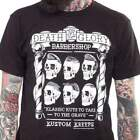Kustom Kreeps Death Or Glory Barbershop Men's T-Shirt Rockabilly Punk Skulls
