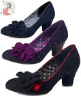 RUBY SHOO SAMIRA budapest COURT mid heel SHOES heels PURPLE BLACK BLUE
