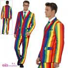 Over The Rainbow Suit Costume Multi Colour Gay Pride Adults Mens Fancy Dress